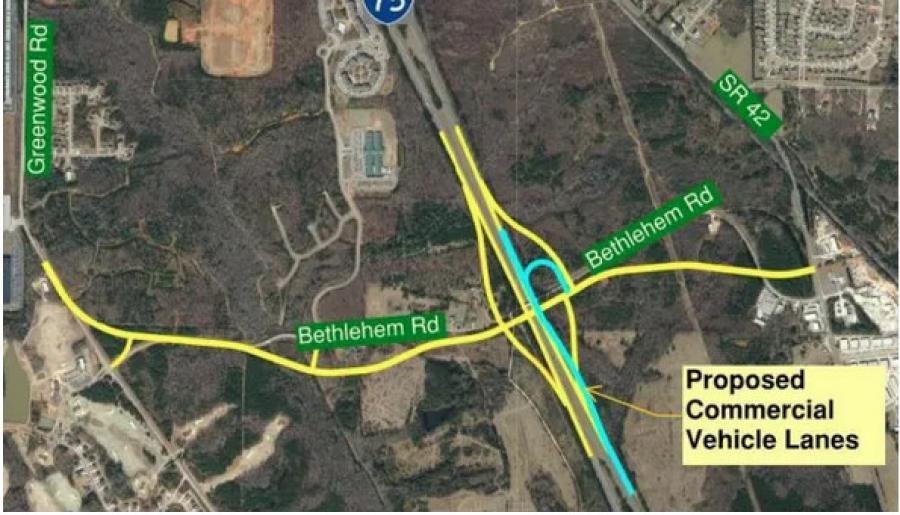 Proposed layout of new Bethlehem Road exit. (GDOT photo)