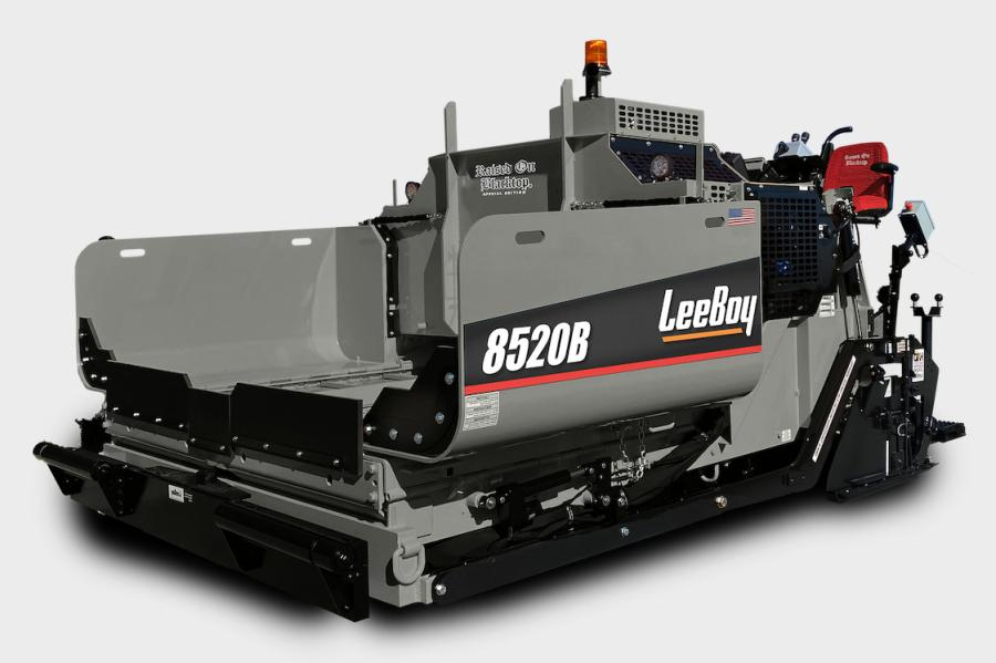 LeeBoy engineers have added a few bells and whistles to the standard 8520B heavy-commercial asphalt paver that pay homage to the Raised on Blacktop crowd