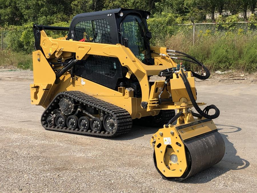 The offset vibratory roller attachment decreases maintenance by 90 percent while increasing road crew safety with its offset operation.