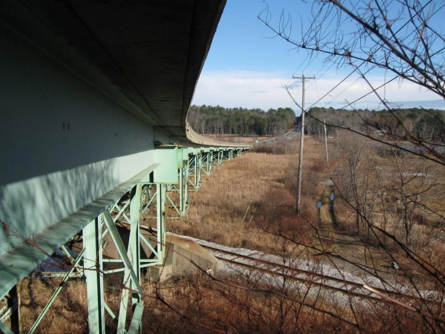 The Station 46 bridge on Route 1 in Woolwich, just north of the Taste of Maine restaurant, is slated to be replaced in the coming years after a 2017 evaluation found structural deficiencies in the 86-year-old bridge. (Devan Eaton photo)