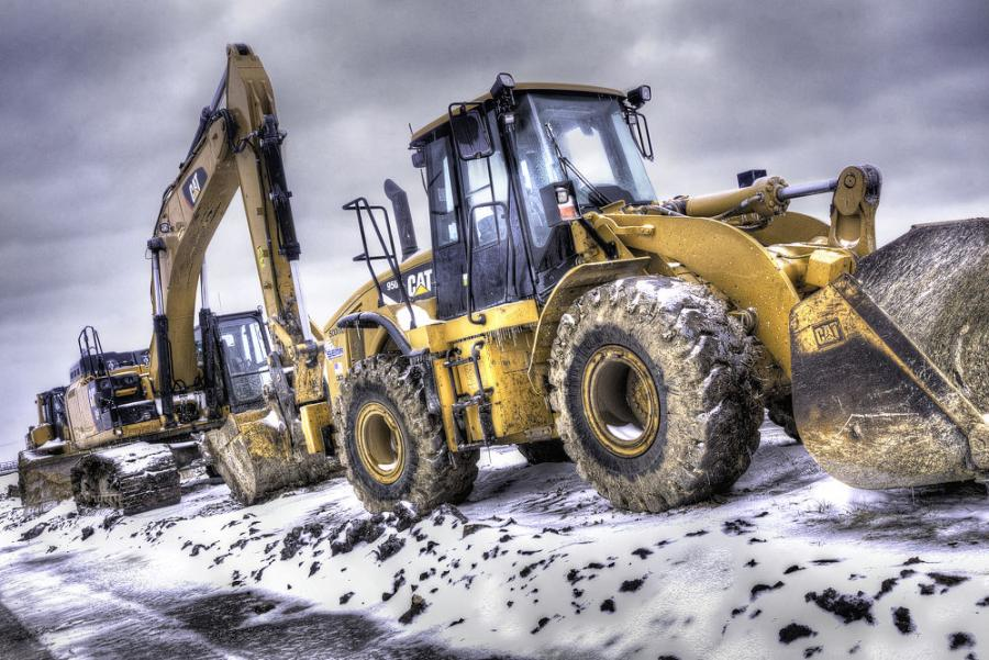 For construction companies and heavy equipment operators, the winter snowstorm in Texas has putconstruction  projects to a temporary halt.