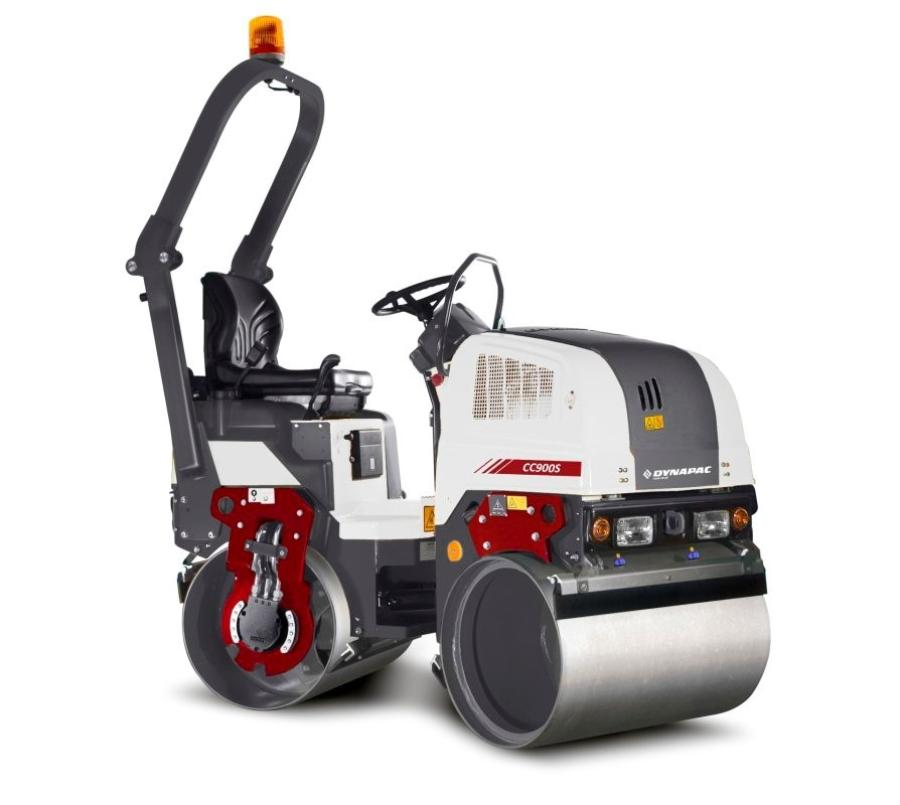 The CC900S allows the operator to compact close to walls, fences, railings and other obstacles because of the fully free right side on the front drum.