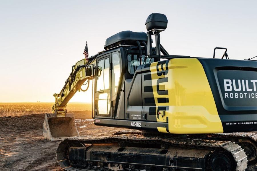 The Built Robotics AX-162 autonomous excavator.