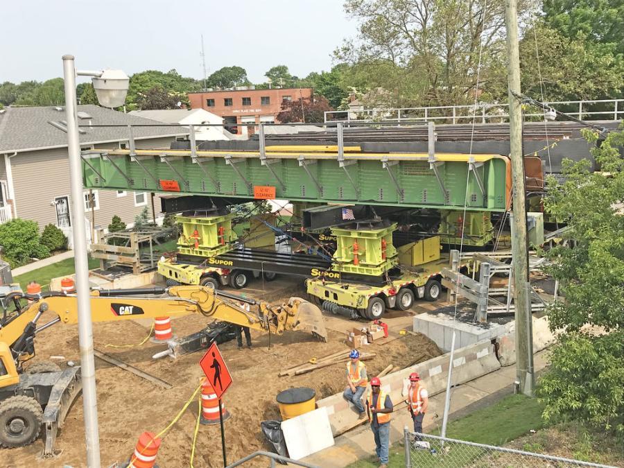 Seen here is the Cherry Lane Bridge replacement work.