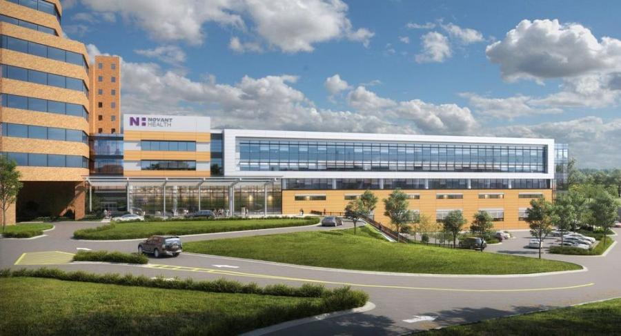 Rendering of the proposed Novant Health Critical Care tower. (Novant Health rendering)