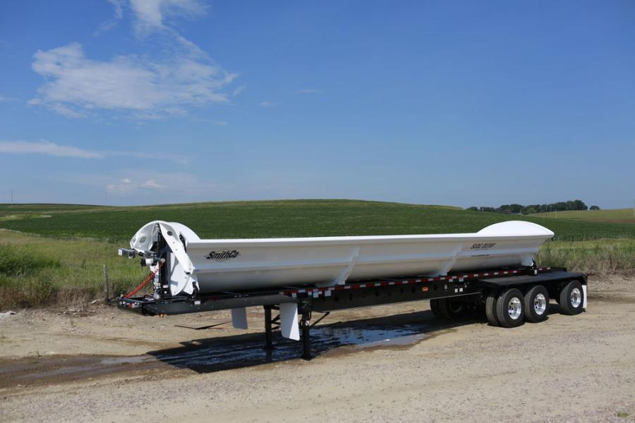 SmithCo's SX3 three-axle side dump is a popular choice for construction jobs, while longer trailers work well for line-haul operations.