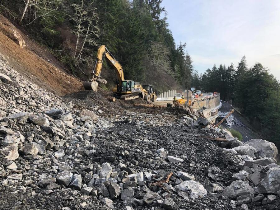 After assessing the damage, removing debris and making minor repairs, Caltrans will reconnect  the roadway at Rat Creek  with an enhanced fill option.