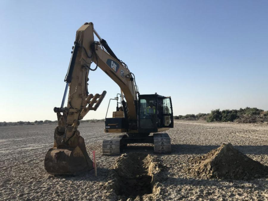 Construction crews began moving 5 million cu. yds. of soil around a 4,110-acre area of dry lakebed at the southern end of the Salton Sea as part of the Species Conservation Habitat Project.