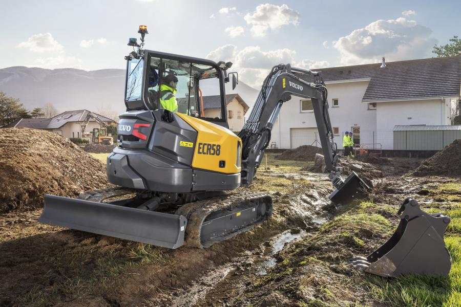 """""""The ECR50 and ECR58 are ideal for rental markets and owner/operators who need a short-swing compact excavator that can nimbly work across a range of applications, including utilities, landscaping, road construction and more,"""" said Darren Ashton, product manager, Volvo CE."""
