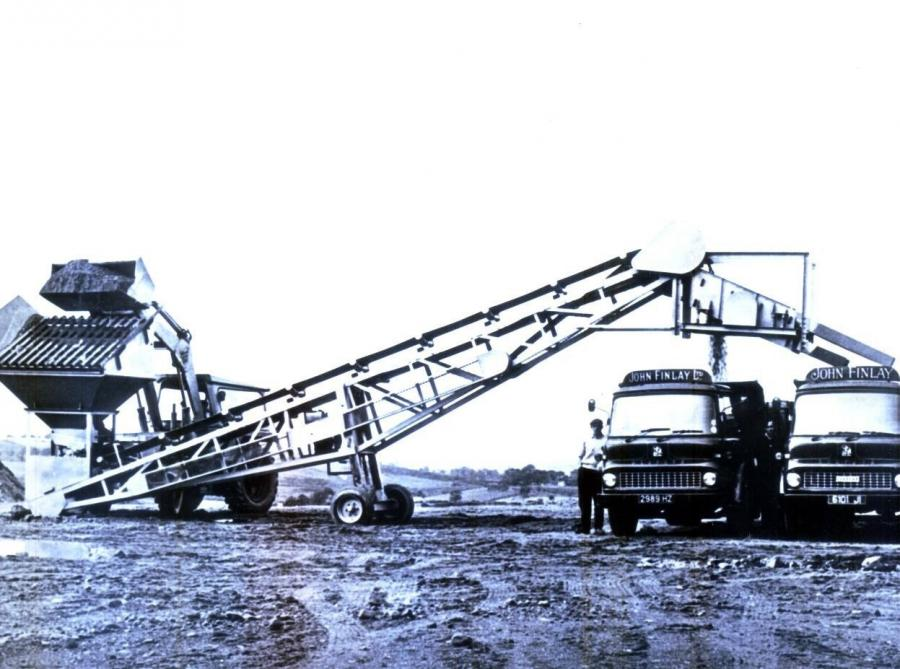 Seen here is the first portable screener made in Ireland — circa 1960 to 1962. Ireland was full of sand and gravel deposits left behind after the last Ice Age.