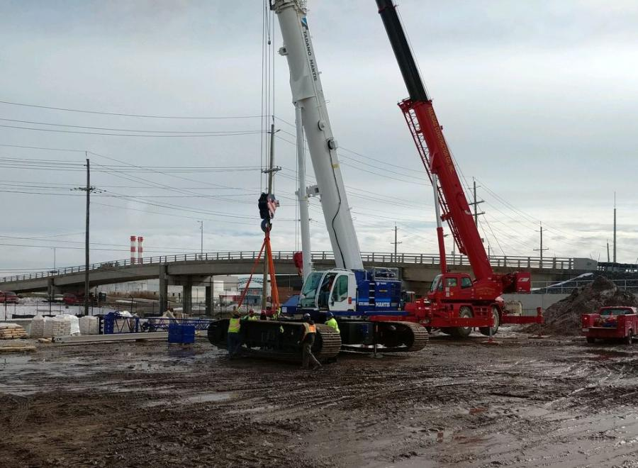 The telescopic boom crawler crane provides increased on the job strength and optimal liftingperformance at any track width, according to the manufacturer.