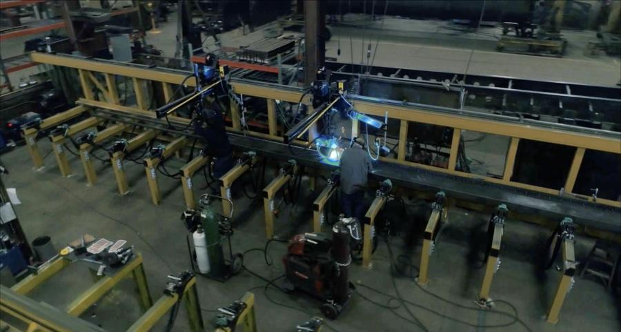 For many years, SmithCo used a submerged arc semi-automated welding station to weld one pass at a time on its frame beams. The new rail welding system gives the straightest, most consistent frame beams SmithCo has ever produced, according to the manufacturer.