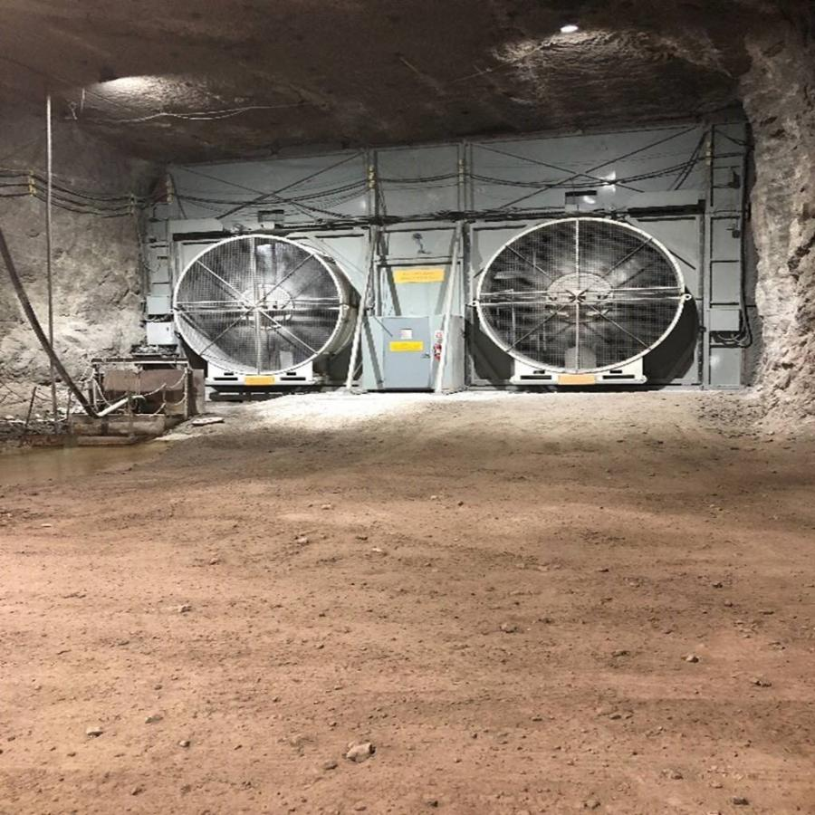 Hanson Material Services approached the installation of an underground fan wall as a best practice to provide necessary ventilation while protecting the health and safety of underground miners.
