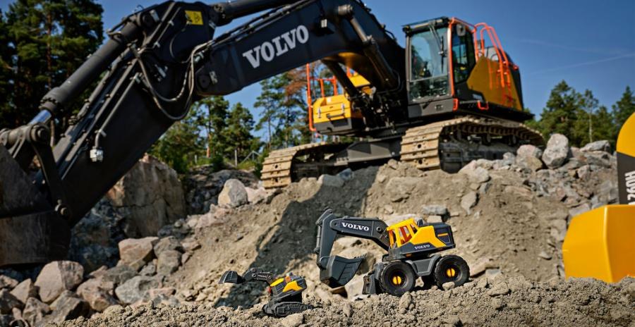 Volvo CE has released its biggest range of toy excavators, loaders, haulers and trucks in collaboration with German toymaker Dickie toys.