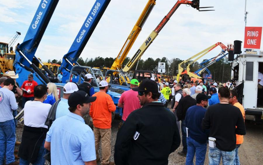 The line-up of lifts drew a strong group of bidders.