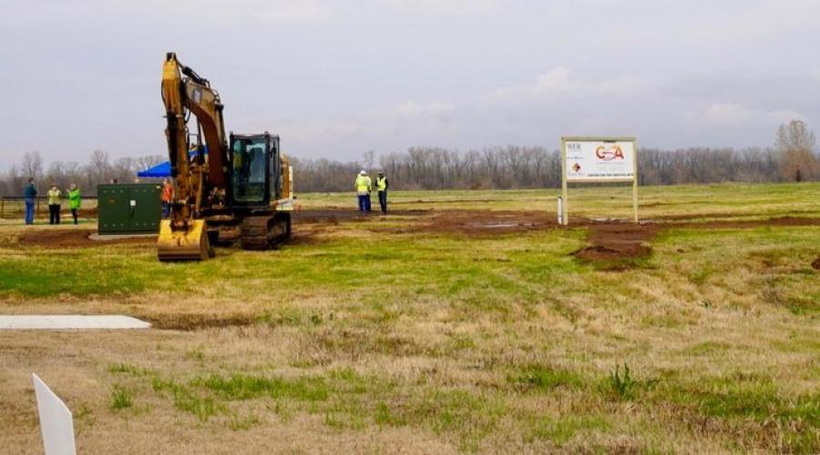 The groundbreaking is the start of a 16- to 18-month timeline for the center's construction. It is 60 percent funded through large grants and private donations.