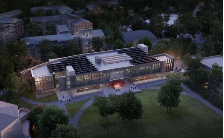 The construction of a new Health Sciences Center will support and house existing and forthcoming health sciences programs in one facility. (St. John's University rendering)