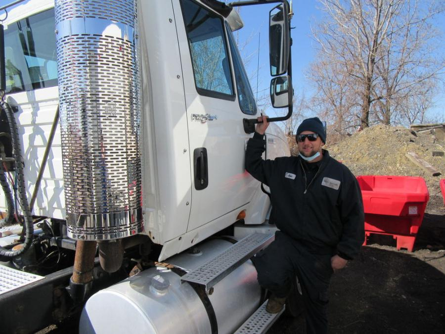 Josh Gabor of MBG Services put this ProStar International Truck up for bid at the auction.