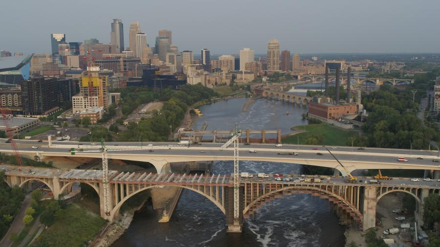 The city of Minneapolis teamed with SEH consultants to design the $50 million rehabilitation project, which called for maintaining the integrity of the 10th Avenue bridge, while ensuring its functionality. (Short Elliott Hendrickson, Inc. (SEH) photo)