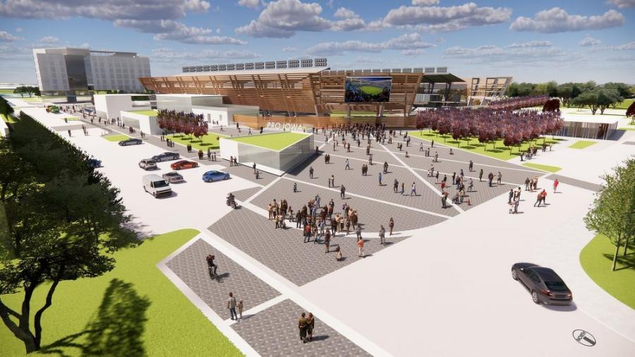 Pro Iowa, the campaign working to bring professional soccer to Iowa, is working in partnership with Krause+, the real estate development arm of Krause Group. (Pro Iowa photo)