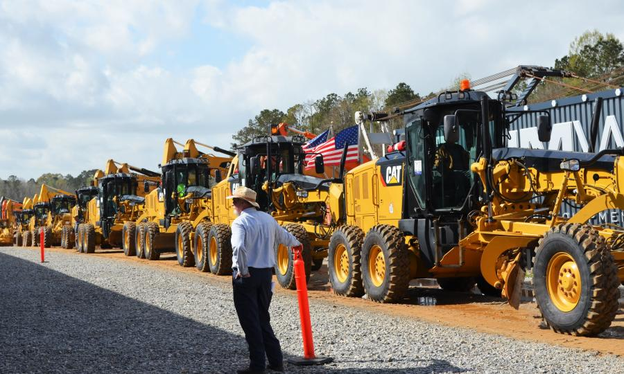 The JM Wood Montgomery, Ala., auctions consistently have the South's best selection of late-model motor graders.