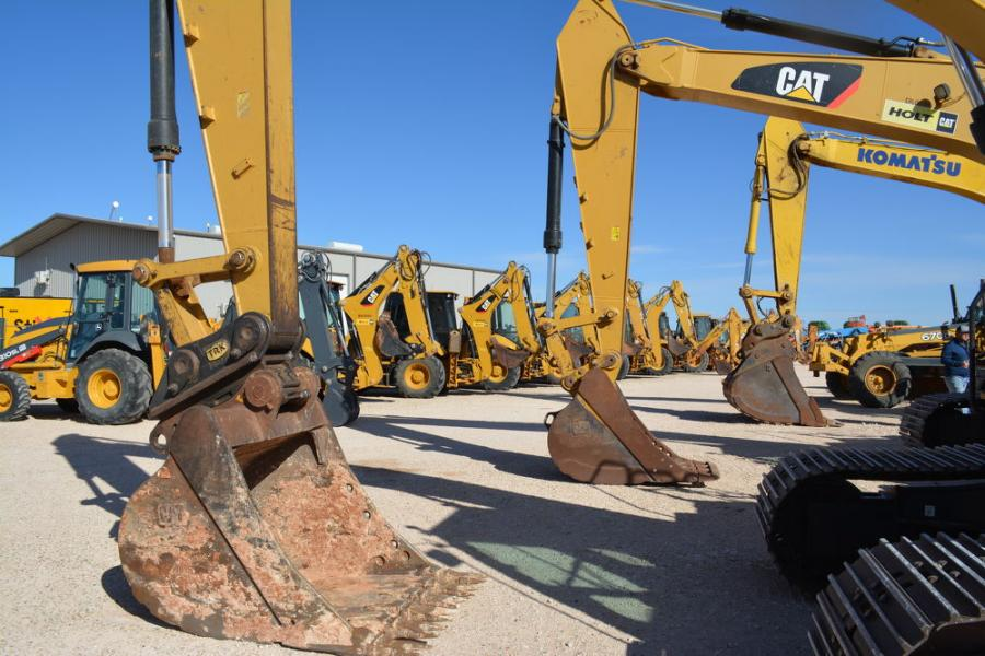 There was yellow iron a plenty up for sale at Iron Bound's 