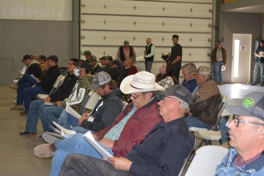 A good crowd of bidders was on hand for the two-day Iron Bound event in Seminole, Texas, March 23 to 24.