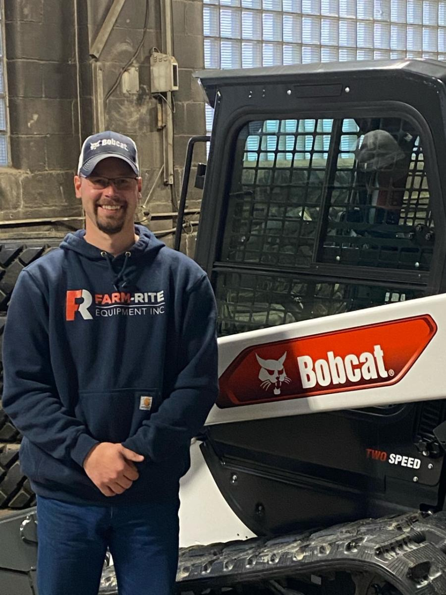 """Farm-Rite welcomes Anthony Dragt as its newest salesman. """"I am excited to join Farm-Rite because I grew up on a dairy farm, south of Willmar, so we had Bobcats on the farm.  I am also a farmer myself so it is exciting to see all new equipment,"""" said Dragt. """"Getting to put my hands on the machines and test drive them is great. I like interacting with people and I am learning new things every day."""""""