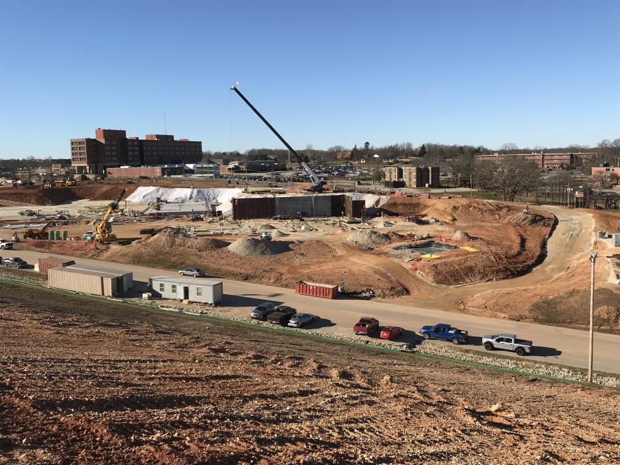 JE Dunn Construction Company broke ground last June for the $295,974,160 design-build replacement of the U.S. Army Corps of Engineers (Kansas City district) Fort Leonard Wood Hospital.