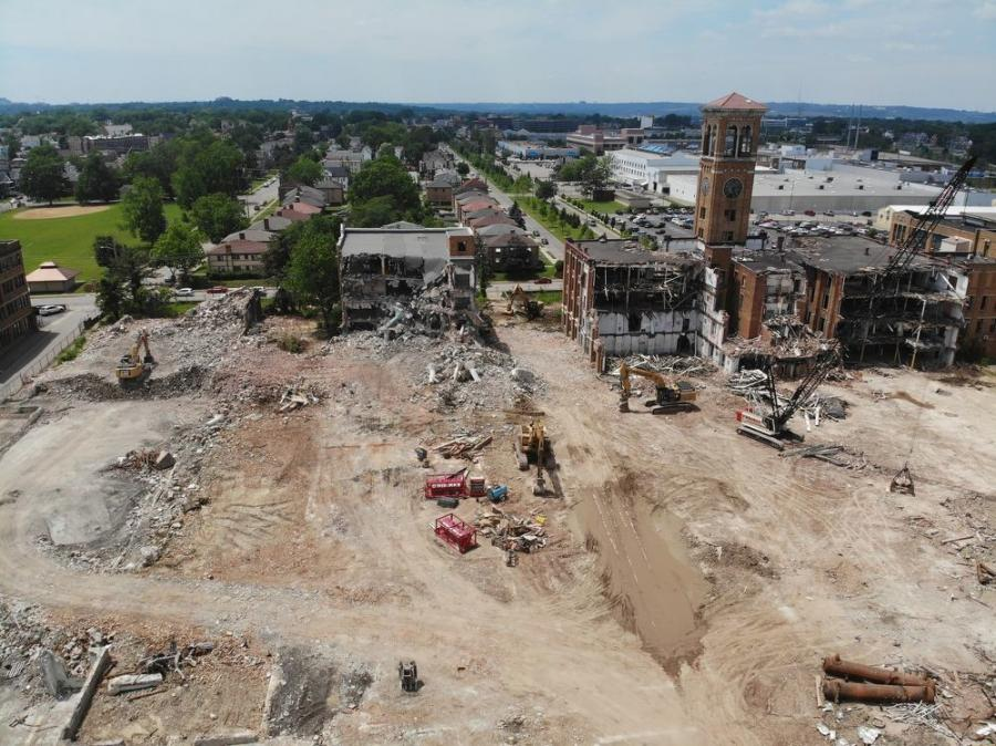 O'Rourke Wrecking Company Inc., based in Cincinnati, began the demolition of the historic former United States Playing Card Company headquarters and factory in Norwood, Ohio, last March and completed the job in October.