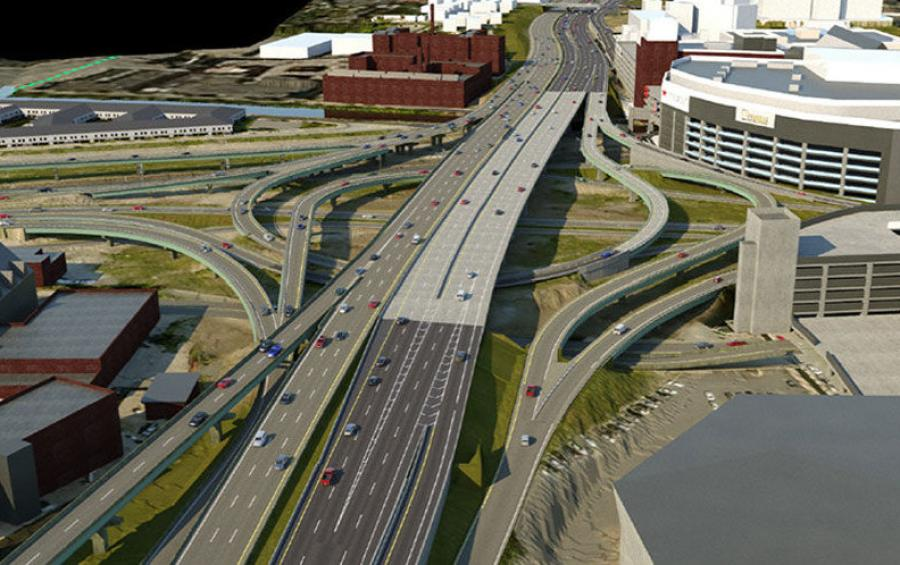 According to RIDOT, the I-95 Northbound Viaduct project's key element is the replacement of the 1,300-ft.-long structure in downtown Providence. (RIDOT graphic)