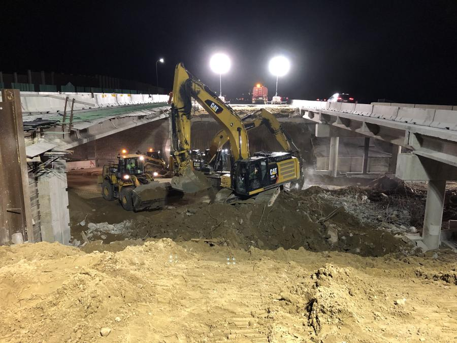 Five bridges carrying traffic over local city arterials were demolished and reconstructed and a sixth was repaired as part of the I-35W road improvements. (Ames Construction photo)