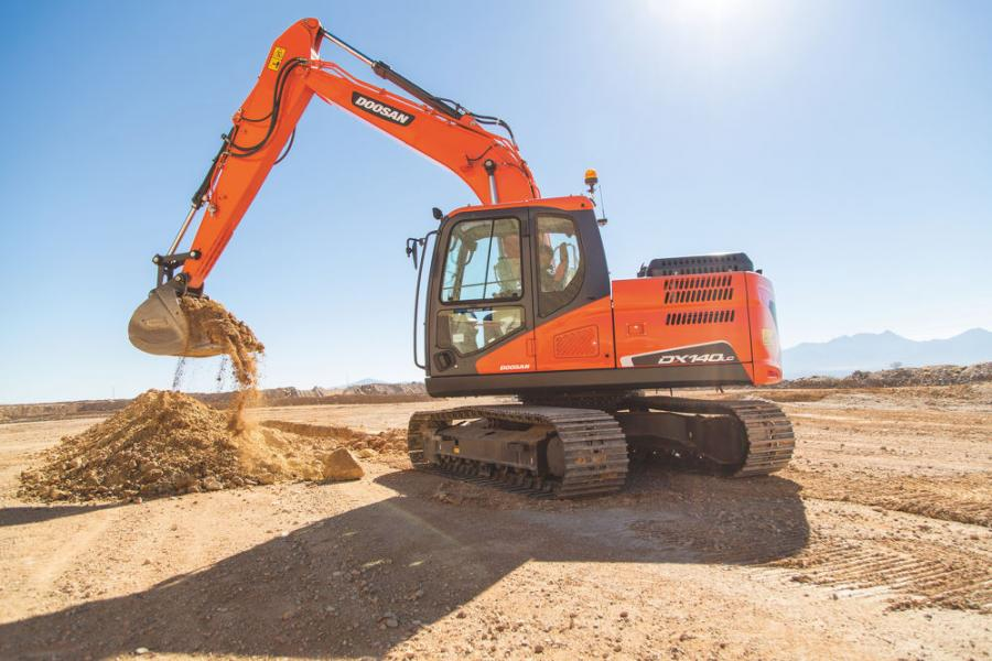 The DX140LC-5 is among the most popular excavators in the Doosan lineup, especially for smaller residential site preparation. Its size makes it attractive to contractors who need an excavator larger than a mini excavator but still want the versatility of a relatively small crawler model.