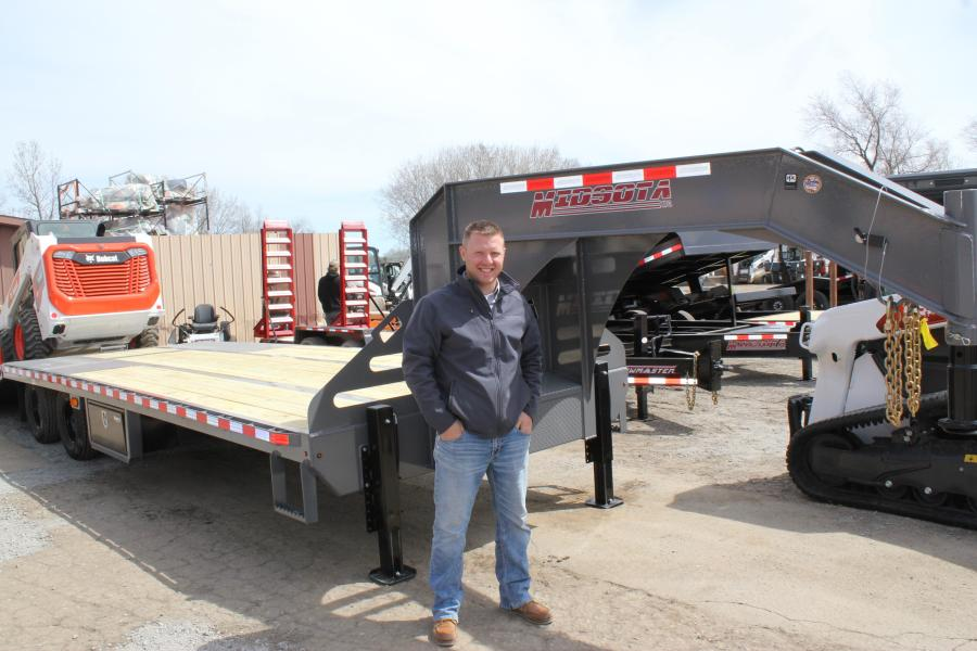 Bryan Schlangen, territory sales manager of Midsota Heavy Duty Trailer in Avon, Minn., is ready to show customers the latest Midsota has to offer.