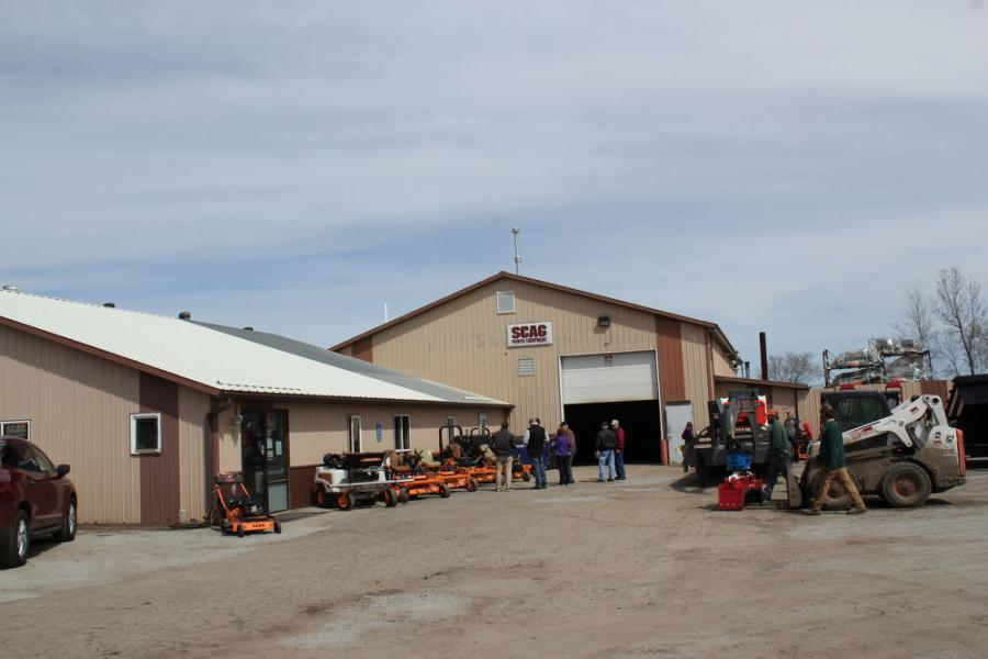 Customers were eager to hear about the latest equipment on display at Farm-Rite Equipment of St. Cloud's open house.