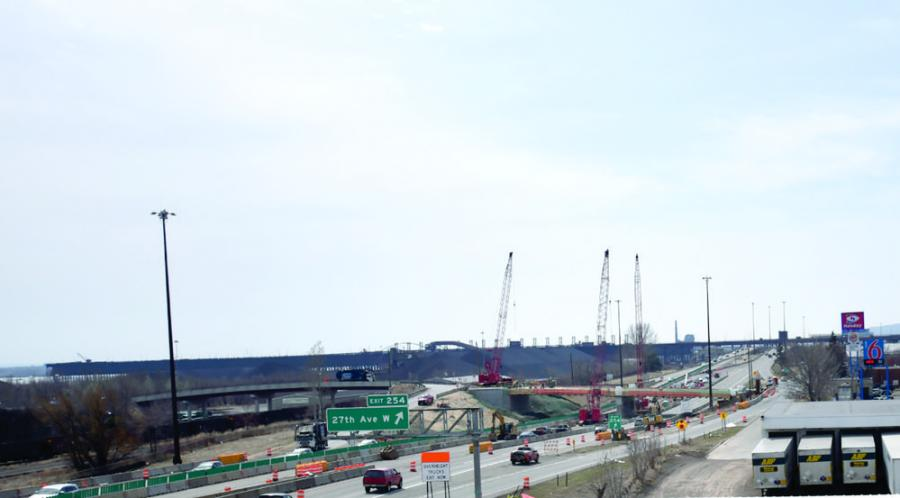 MnDOT's multi-year Twin Ports Interchange project will enhance safety by eliminating blind merges and left exits, replacing aging infrastructure and improving freight mobility.