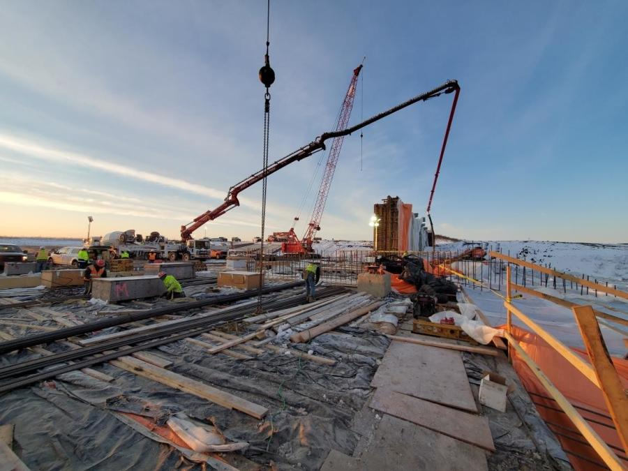 The Fargo-Moorhead project consists of a grade raise of I-29 for approximately 4 mi. to bring the roadway out of the 500-year flood elevation. (USACE photo)