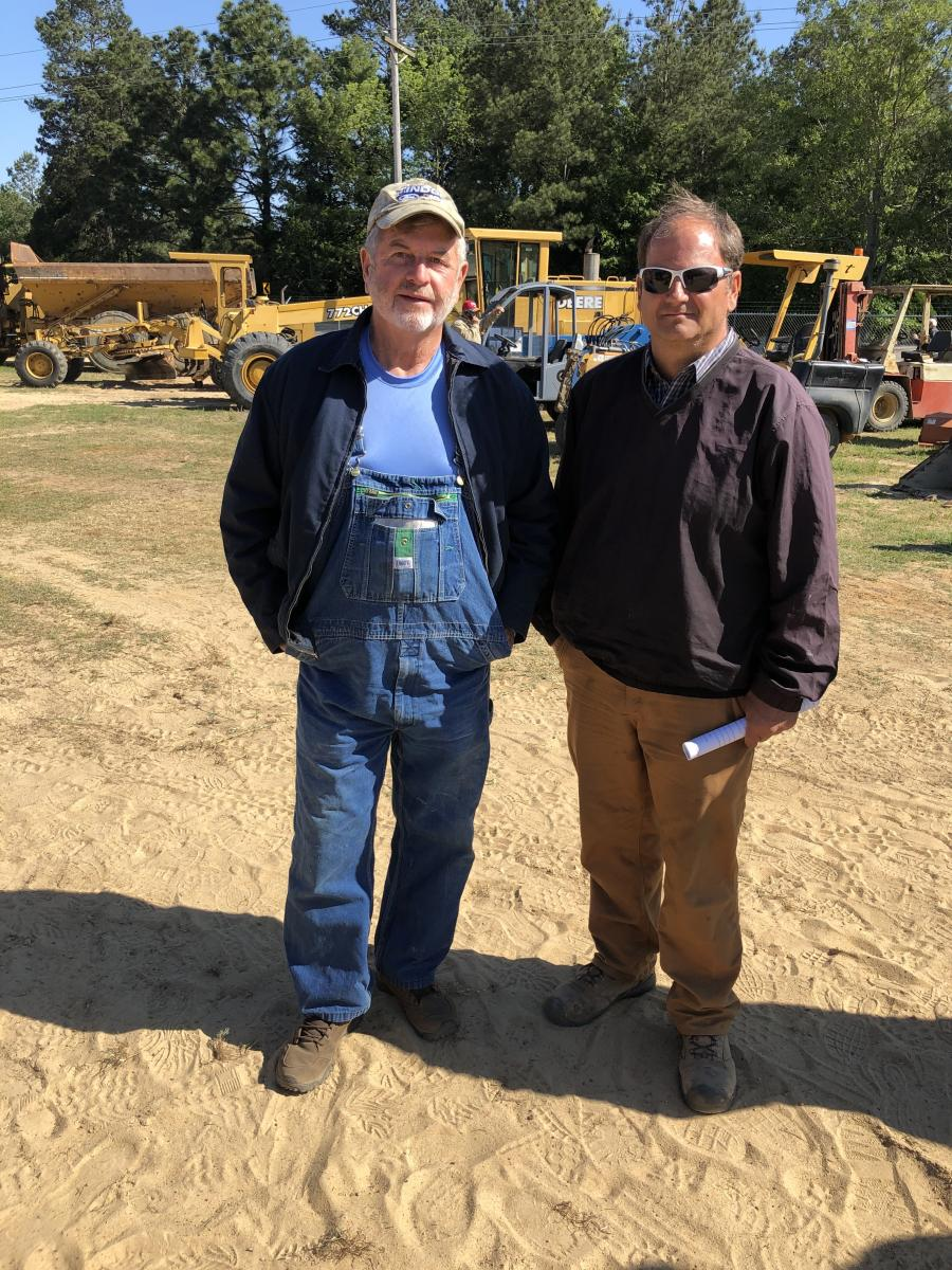 E.B. Atkins (L) of E.B. Atkins Construction in Columbia, S.C., and Robert Armstrong of Armstrong Contractors in Columbia, S.C., both visited the auction.