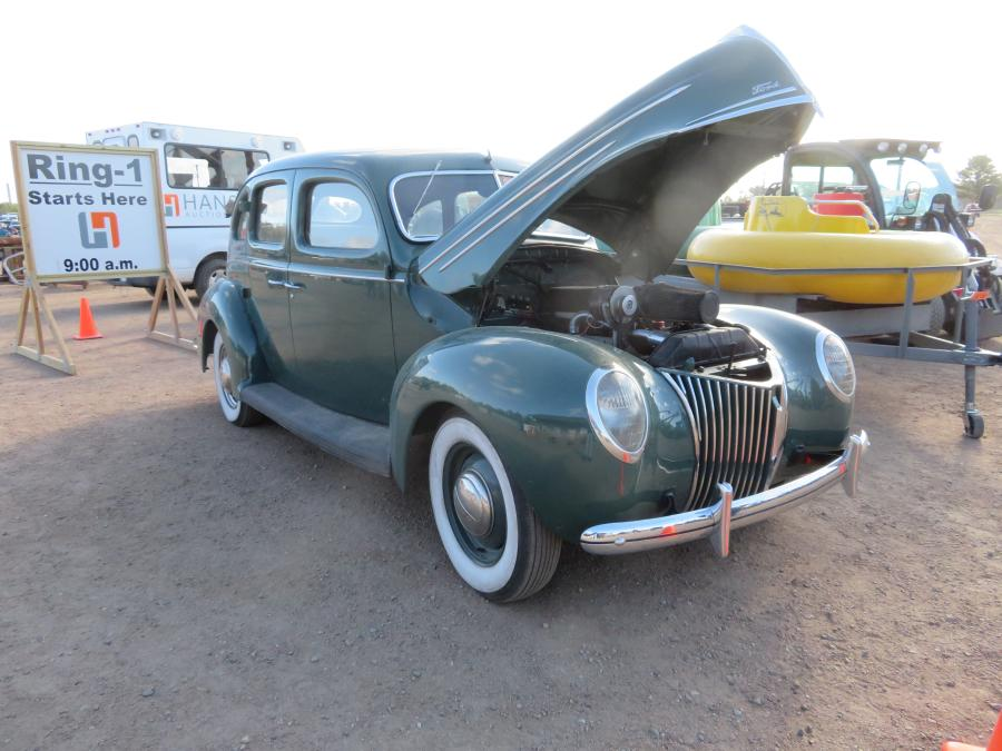 This 1939 Ford with turbo charger was up for auction.