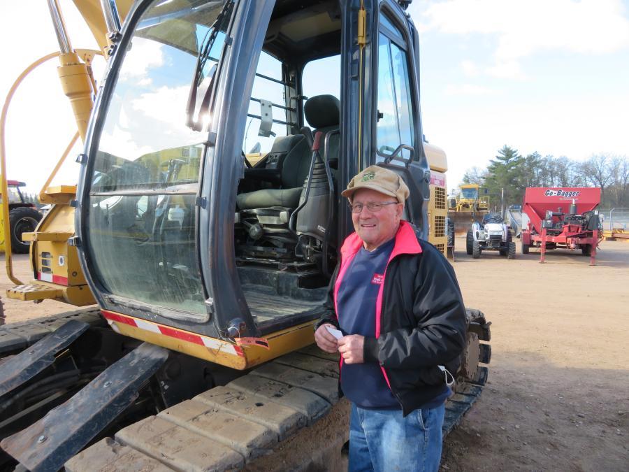 Gerald Koehler of Koehler Construction came across this John Deere 135C excavator at Nitke's spring auction.