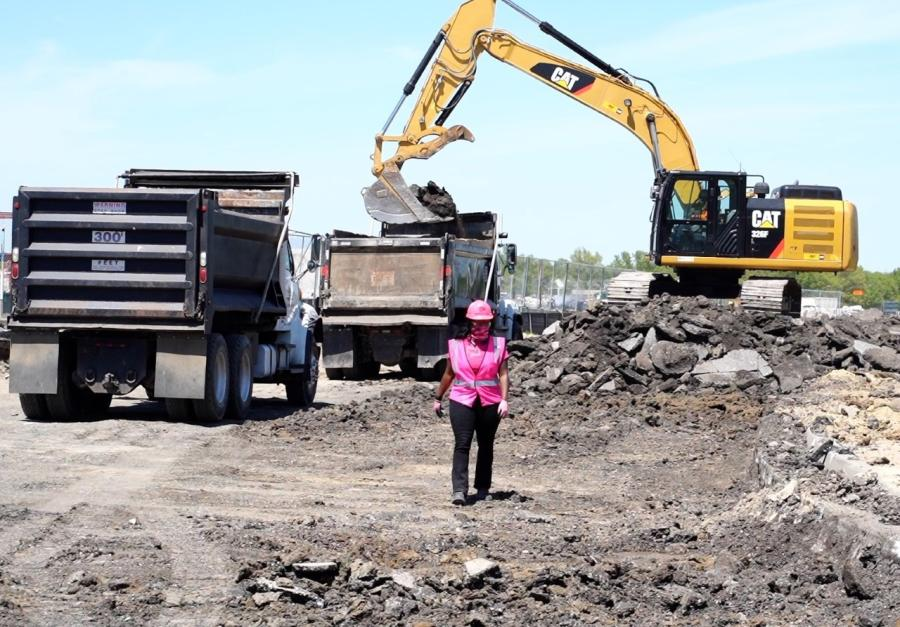 Fahteema Parrish and her company, Parrish and Sons Construction Co., is playing a key role in the Kansas City International Airport project. (Kamiasha Tyner of Dignified Digital photo)