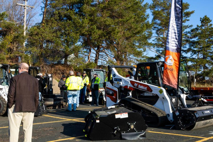 The Lano Equipment team brought this Bobcat T76 compact track loader to the demonstration. The T76 is part of Bobcat's new R series. The loader's low ground pressure track system gives operators the ability to push through soft, sandy, wet or muddy conditions.