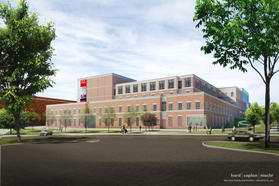 The $102 million, 177,917-sq.-ft. buildingwill replace the existing space for the College of Visual and Performing Arts and create interdisciplinary student spaces.