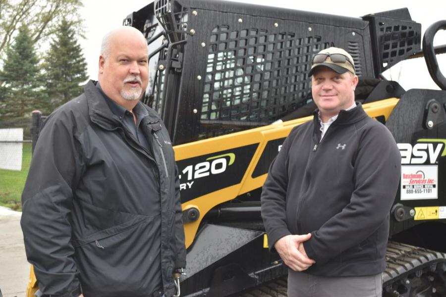 Bob Tracey (L), Baschmann Services sales manager, and Bill Kirsch, Baschmann Services sales representative of the counties of Orleans, Genesee, Wyoming and Alleghany.