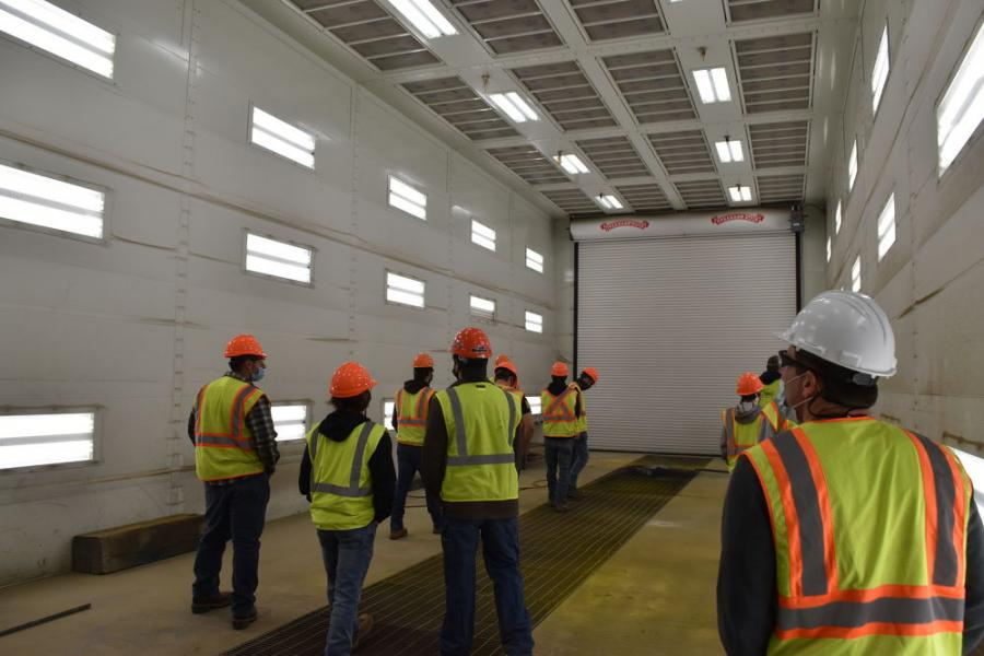 Students interested in vehicle body repair were awed by the paint booth, which is the largest of its type in New York State.