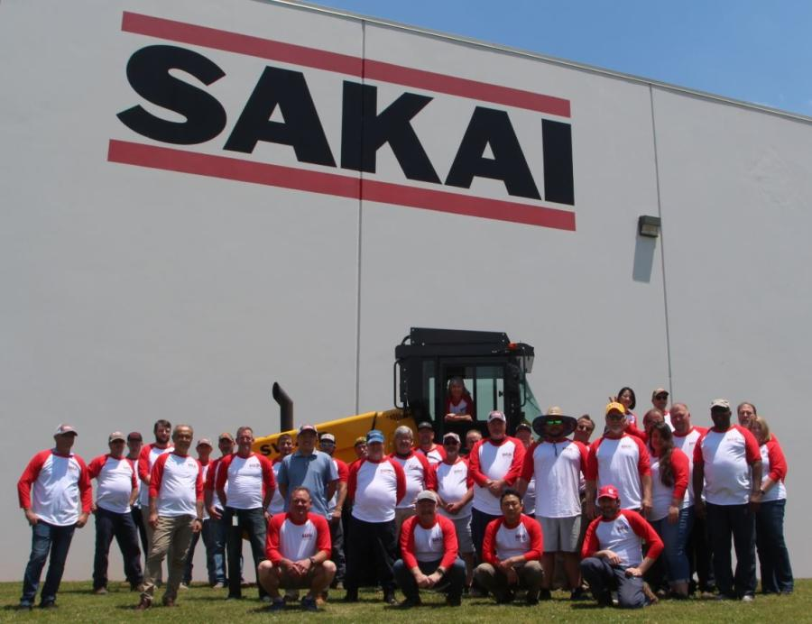 Fifty employees work at the Sakai America facility in Adairsville, Ga. The location serves as the North American headquarters, has a 175-ft. long assembly line, 97,000 sq. ft. of office and warehouse space within two buildings and more than 40 acres of land for testing and machine storage.