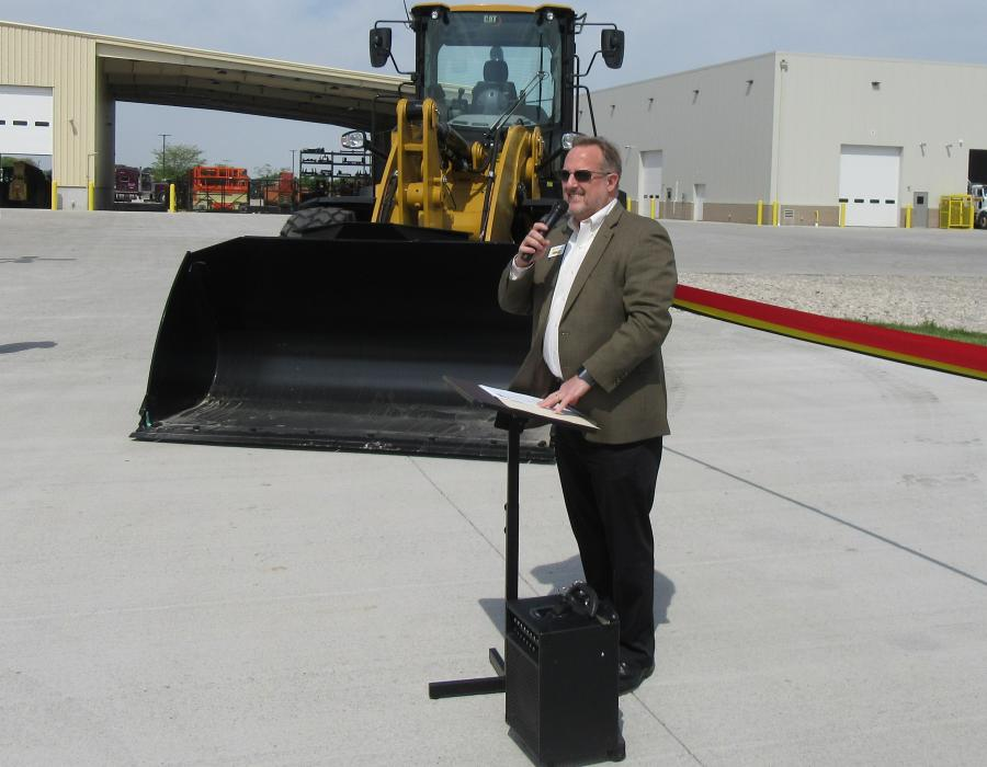 """In an opening statement during the ribbon-cutting ceremony at Ohio Machinery Co.'s new Perrysburg facilities, President and Owner Ken Taylor addressed a crowd of well-wishers, discussing the company's history and growth as well as how the new campus fits in with its vision for the future, calling it the company's """"crown jewel."""""""