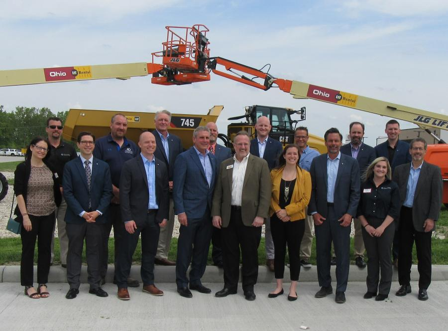 The Marous Brothers Construction team was on hand to celebrate the ribbon cutting.