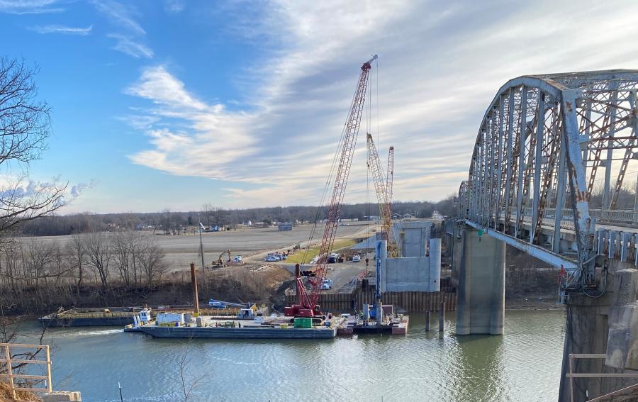 Work began on the $32 million Spottsville Bridge, known officially as the Richard W. Owen Memorial Bridge, in Henderson County in January 2020.