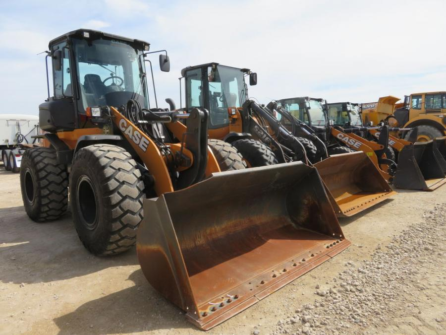 Attendees had a chance to bid on these well-maintained Case wheel loaders.